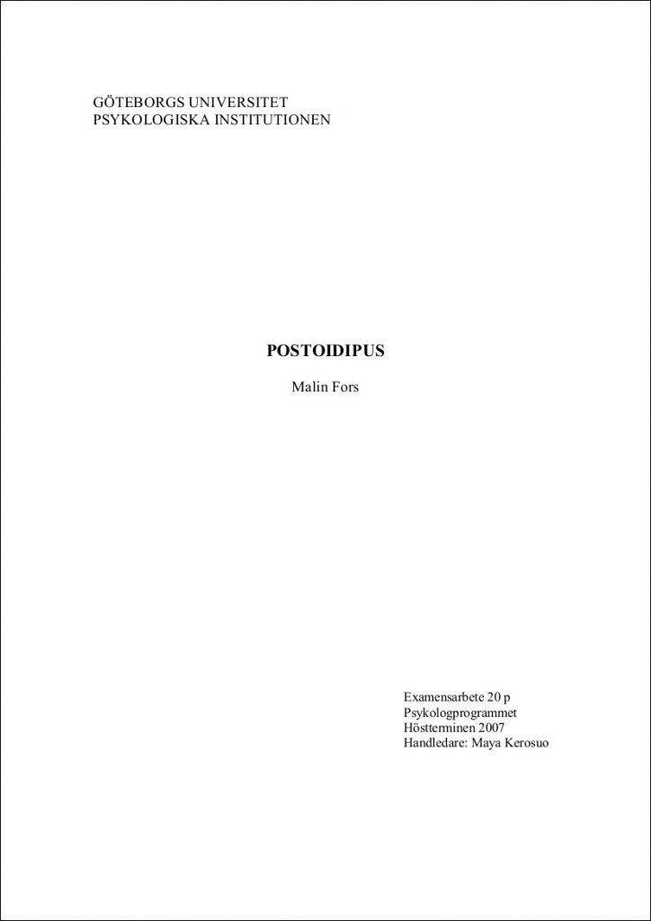 Postoidipus